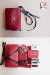 Ledertasche (Boxcalf), Modell Tenera Nuda, rot