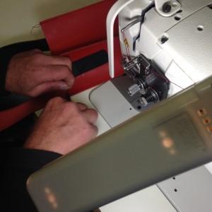 Bouletasche in Arbeit | Nähmaschine