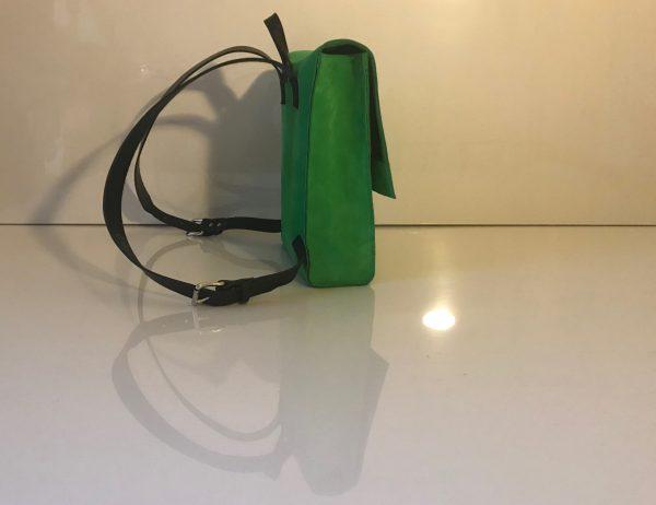 Grüner Lederrucksack aus Nubuk