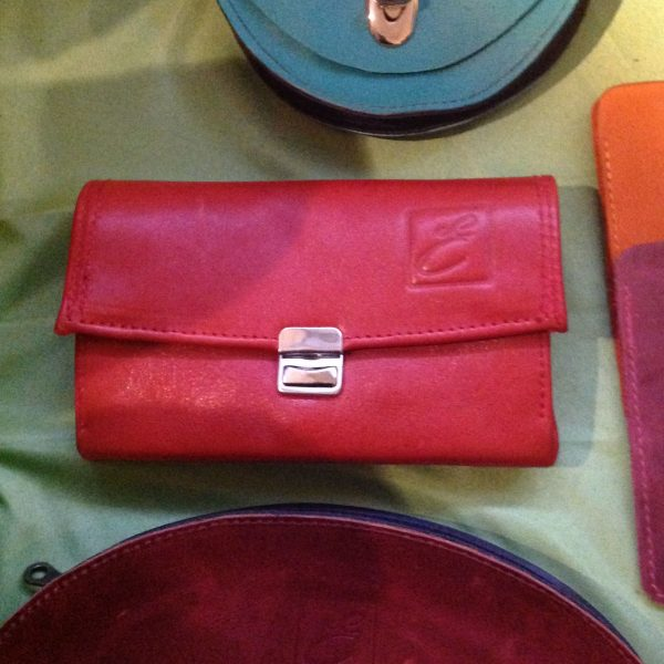 Lederportemonnaie aus rotem Rindleder
